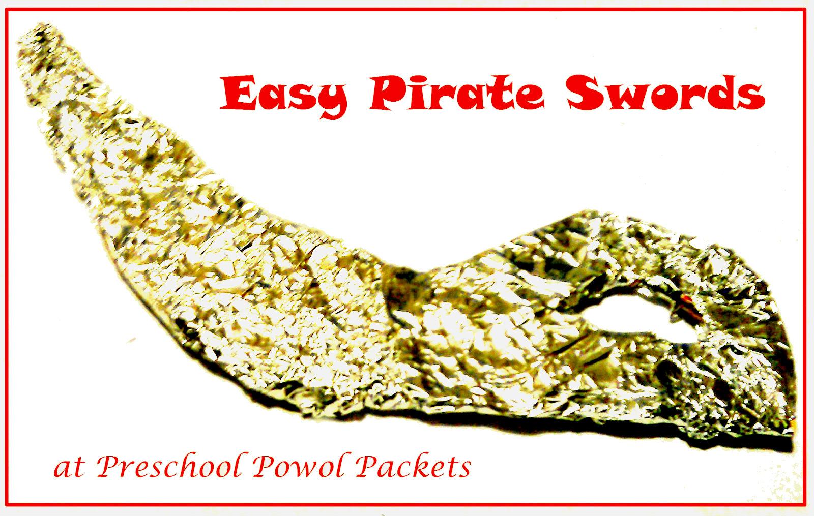 easy pirate sword for preschoolers preschool powol packets