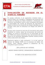 EVALUACIÓN DE RIESGOS EN EL IFAPA EL TORUÑO
