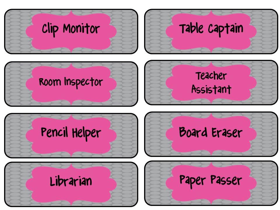 Classroom Job Ideas Middle School ~ Mackey s classroom jobs