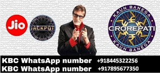 Kbc lottery winner Jio kbc Winner Lottery Amount 2500000 Mobile Number KBC Lottery KBC Whatsapp
