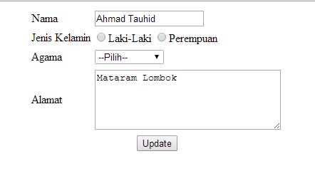 Insert Update dan Delete dengan PHP dan MySQL
