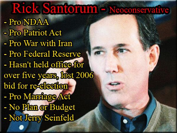 Rick Santorum - Neoconservative
