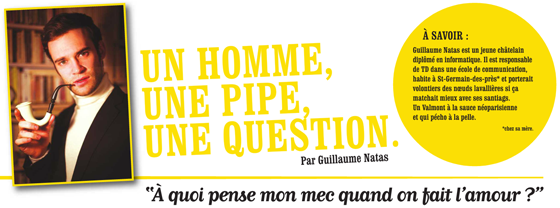 Une homme, une pipe, une question