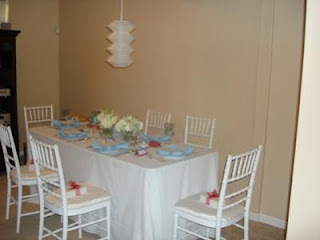 Coed Baby Shower Table Decoration