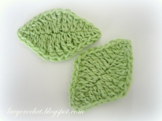 Crocheting Leaves : Lacy Crochet: Simple Leaf Crochet Pattern