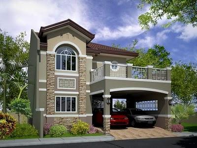 denah desain rumah 3d 2 lantai