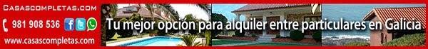 Alquiler de vacaciones en Galicia, casas completas, chalets, bungalows y apartamentos...