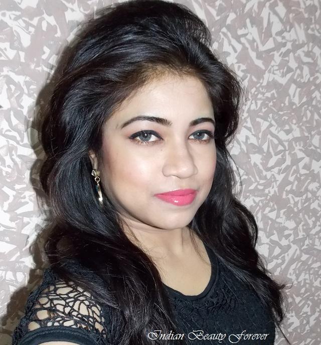Quick Makeup Look with Peachy Pink Lips indian makeup