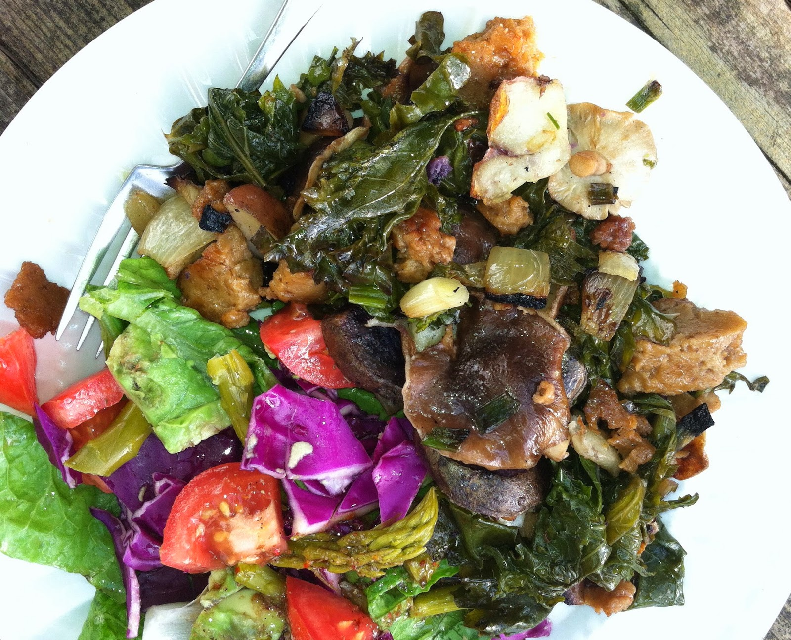 Food Connections: Kale, Potatoes and Green Garlic
