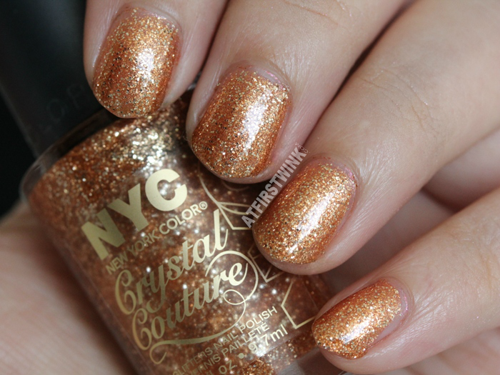 NYC Crystal Couture glitters nail polish 011 - Fashion Queen swatch
