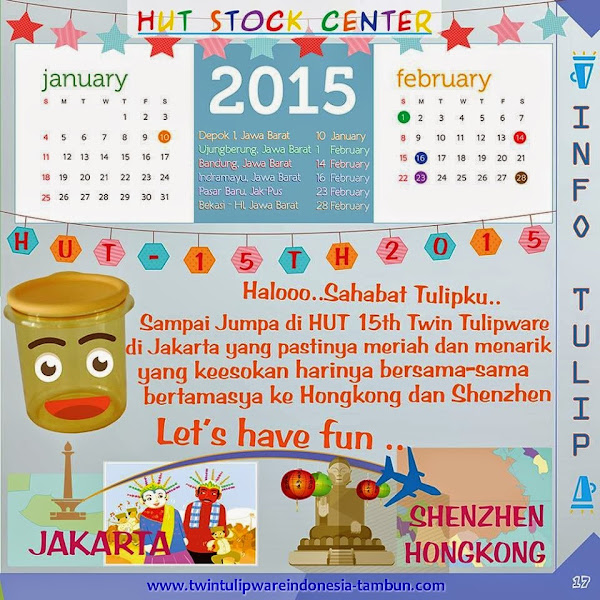 HUT Stock Center Tulipware | Januari - Februari 2015