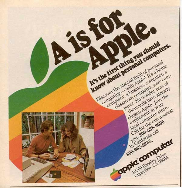 Vintage Apple Ads in the 1970s-80s ~ vintage everyday