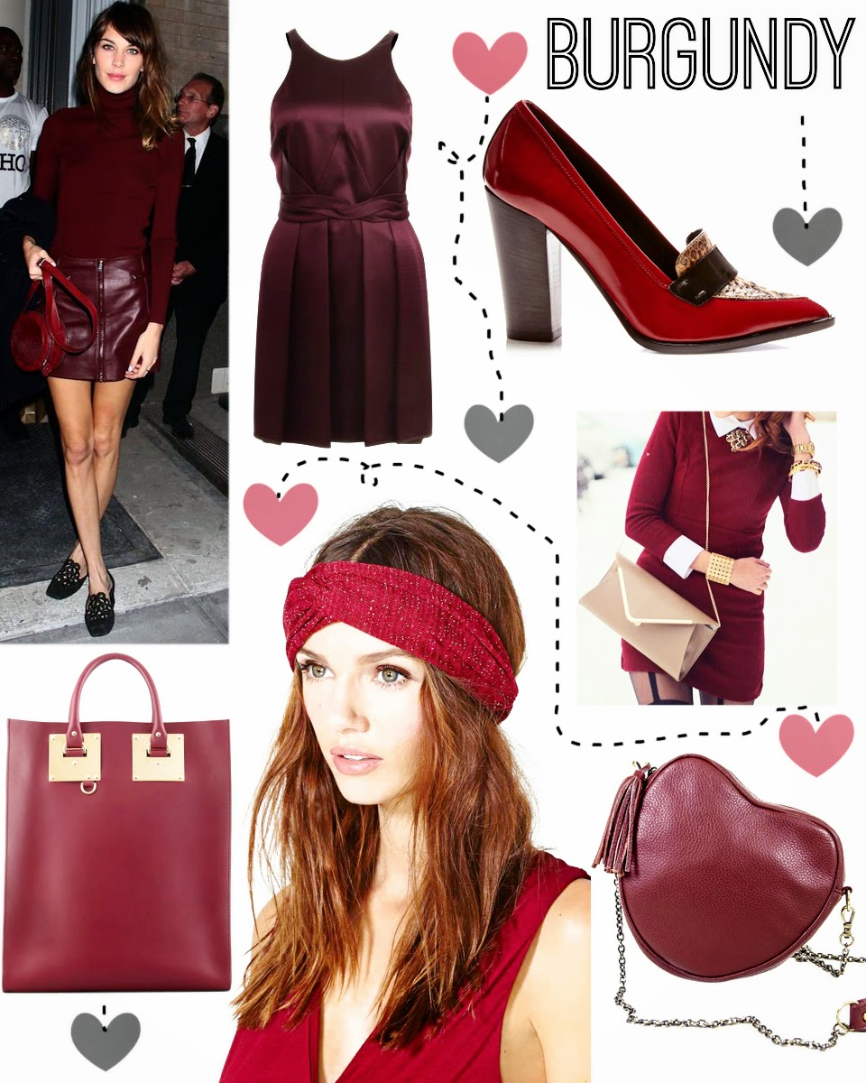 Burgundy fashion trends