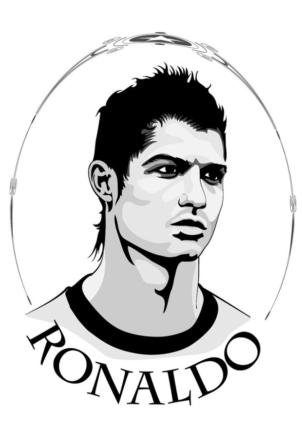 Free coloring pages of messi ronaldo - Ronaldo coloriage ...