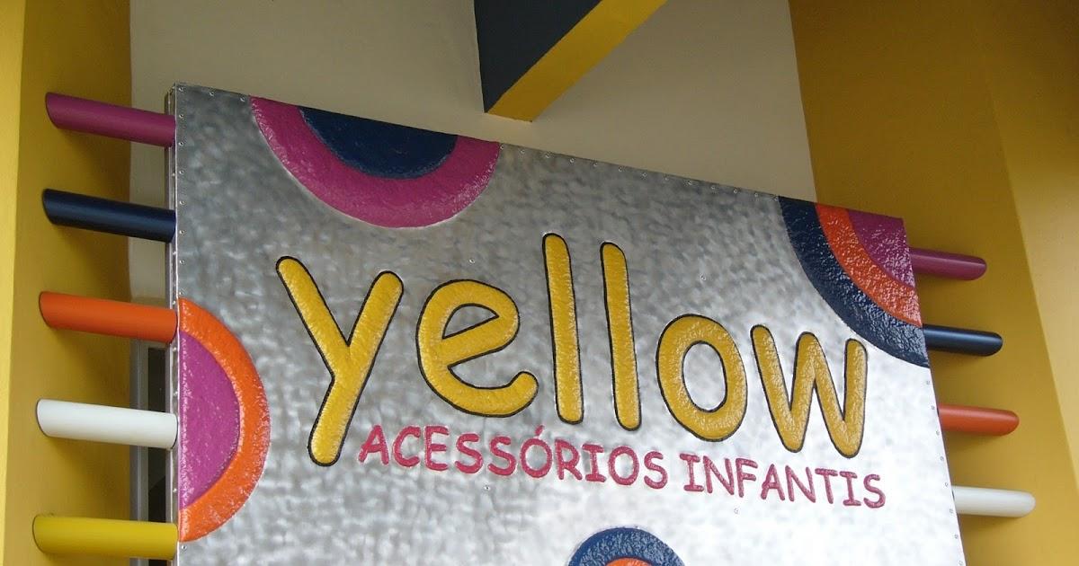 decoracao de interiores universidade:CESAR EMILIANO HOEFELMANN: Arte: Placa Yellow – Loja em São Miguel do