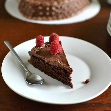Eggless Chocolate Cake with Jam