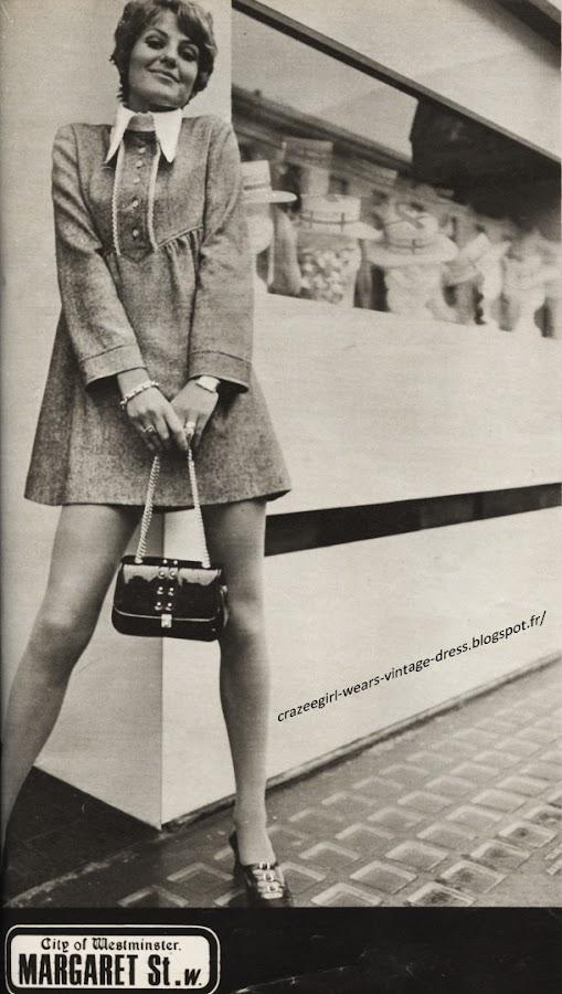 London fashion - shop Twiggy dress  1967 60s 1960