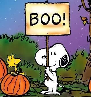 "Snoopy says ""boo!""  Happy Halloween!"