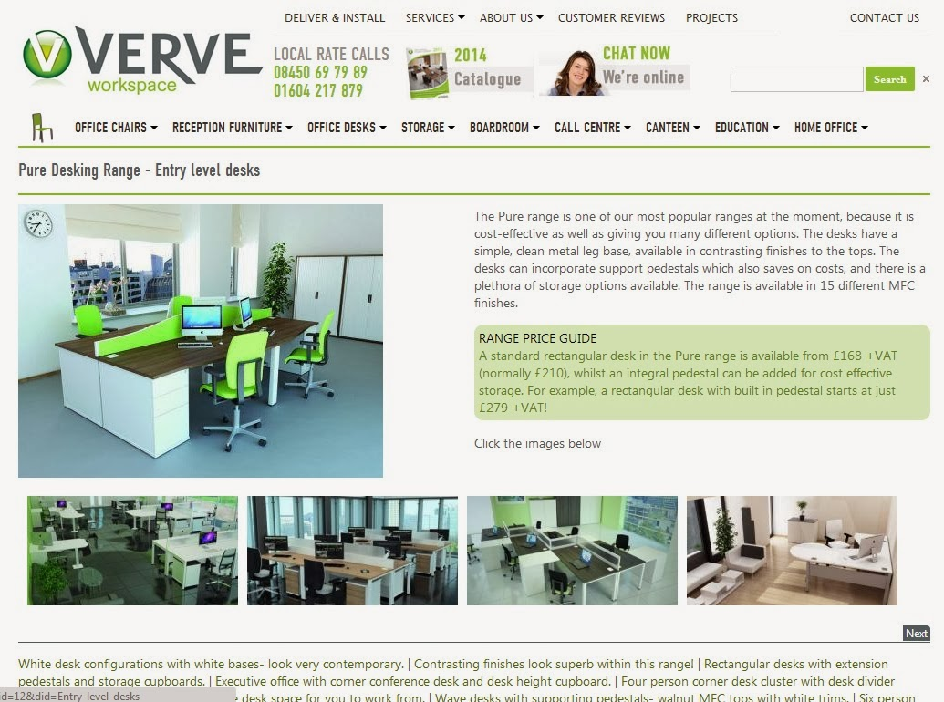 Verve Workspace Pure Range