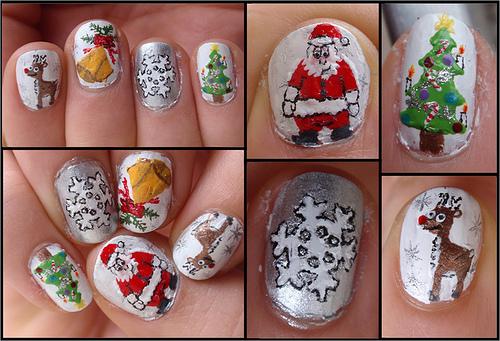 Little Black Cherry Nail Art Christmas Ideas