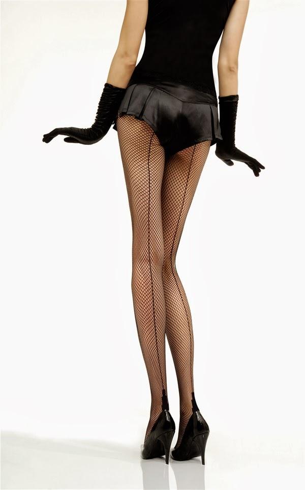 seamed fishnet tights