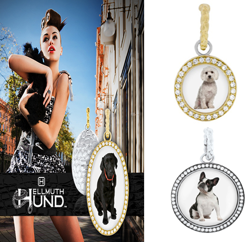 photos of hellmuth hound jewellery with dogs pictures