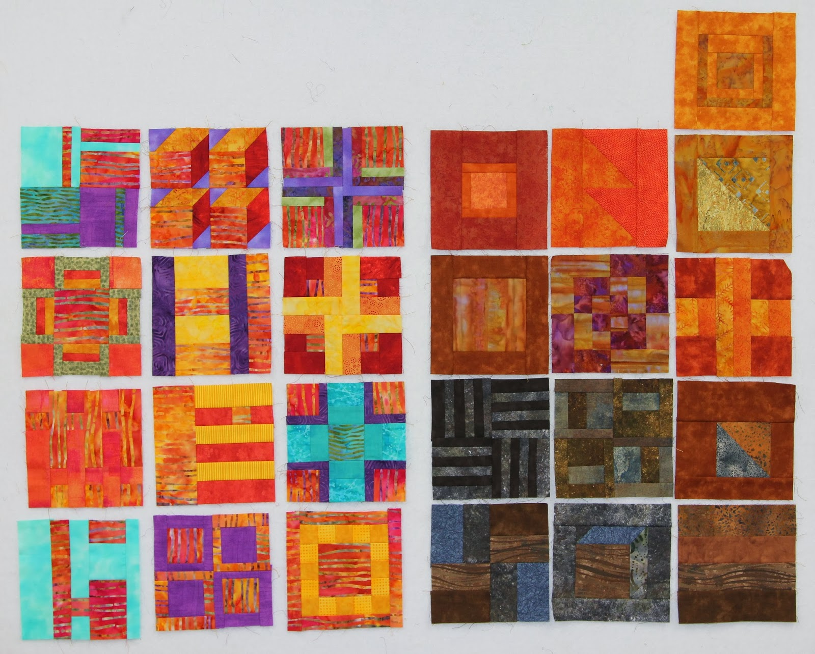 Quilts and paws for Southwest desert color palette