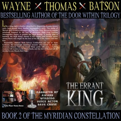 The Errant King Audiobook is HERE!