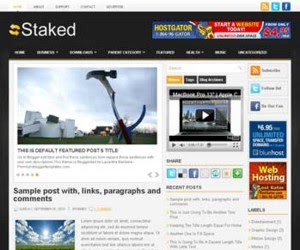 Staked Blogger Template