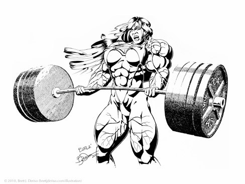 Female Muscle Fan Art By Brett J Deriso