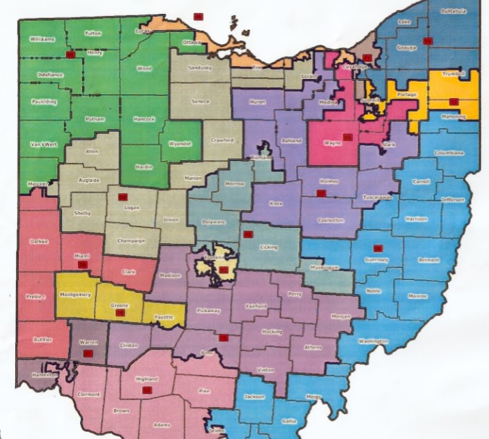 Third Base Politics The Revised Ohio Congressional Map