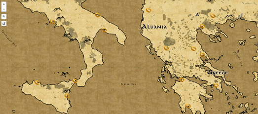 Maps Mania The Lord of the Rings Map Style