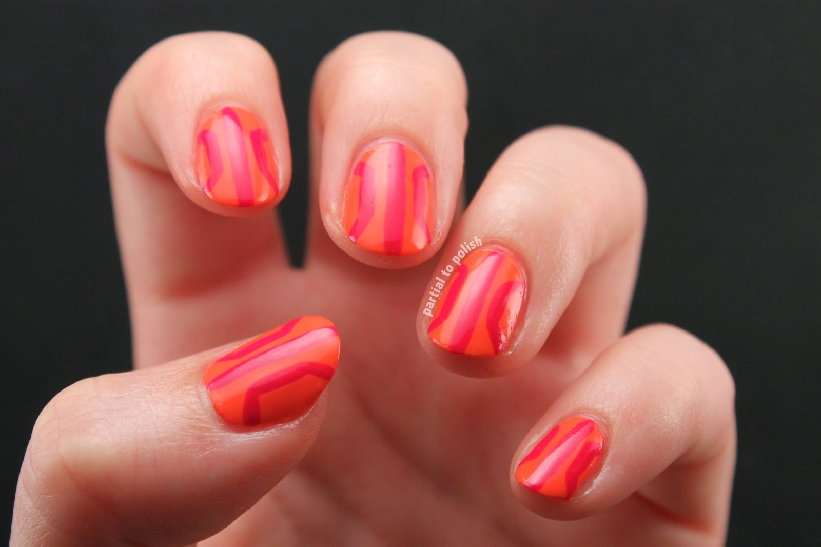 Art Deco/Abstract Basketball Nail Art