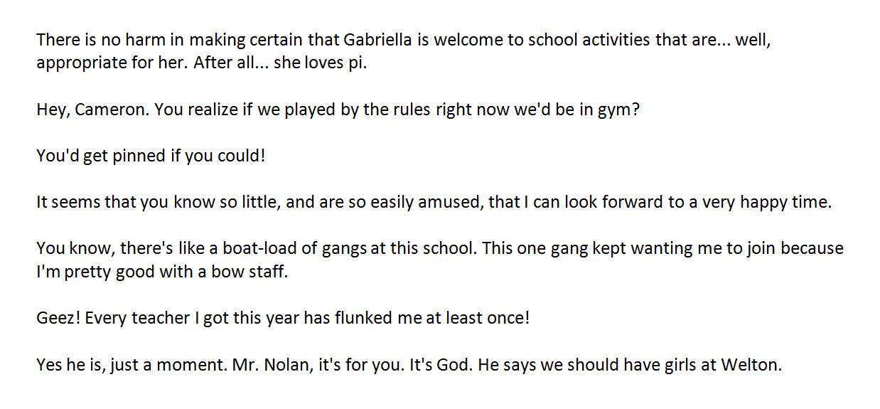 Quotes: High School