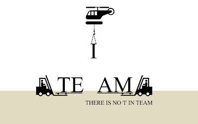 there is no I in team