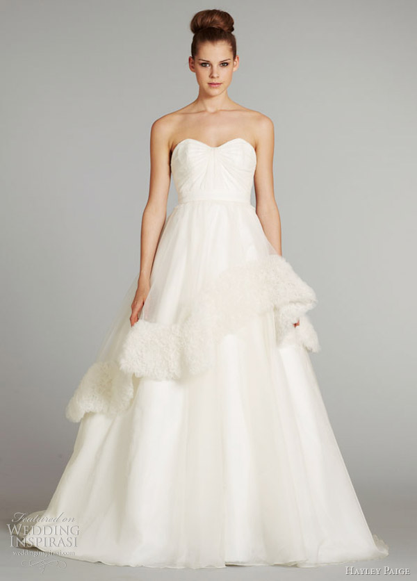 Honey Buy: Hayley Paige 2012 winter wedding dresses