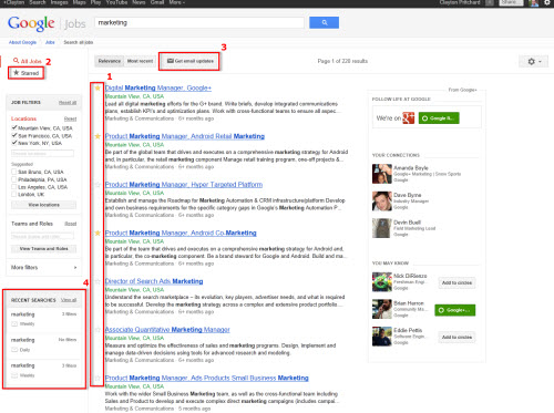 Google Jobs Board Enhanced With Google+