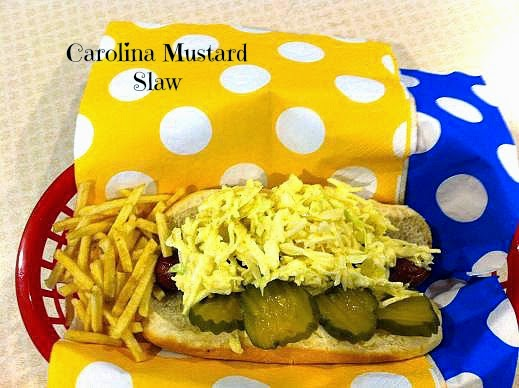 ... Recipes: Carolina Mustard Slaw for Hot Dogs and a 2nd Birthday