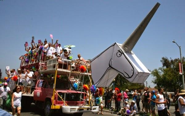 Unicorn float West Hollywood Pride Parade 2014