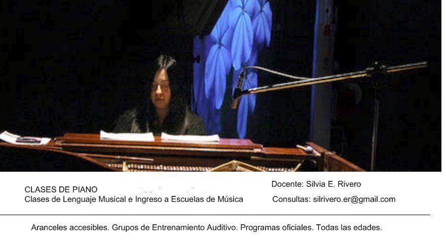 Clases de Piano / Lenguaje Musical/ Entrenamiento Auditivo / Preparación a Nivelaciones