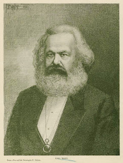 'Karl Marx', dibujo a tinta de F. Dahme (1903), Colección de impresos y fotografías de Miriam and Ira D. Wallach Division of Art, tomada de digitalgallery.nypl.org