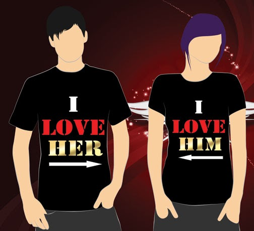 customer relationship shirts for him and her