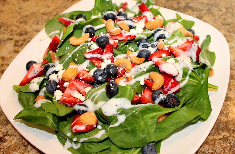 ... Mom: Spinach, Strawberry and Feta Salad with Poppyseed Dressing