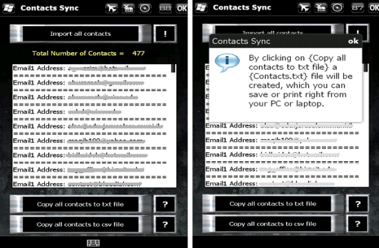 CONTACTS_SYNC app for windows mobile
