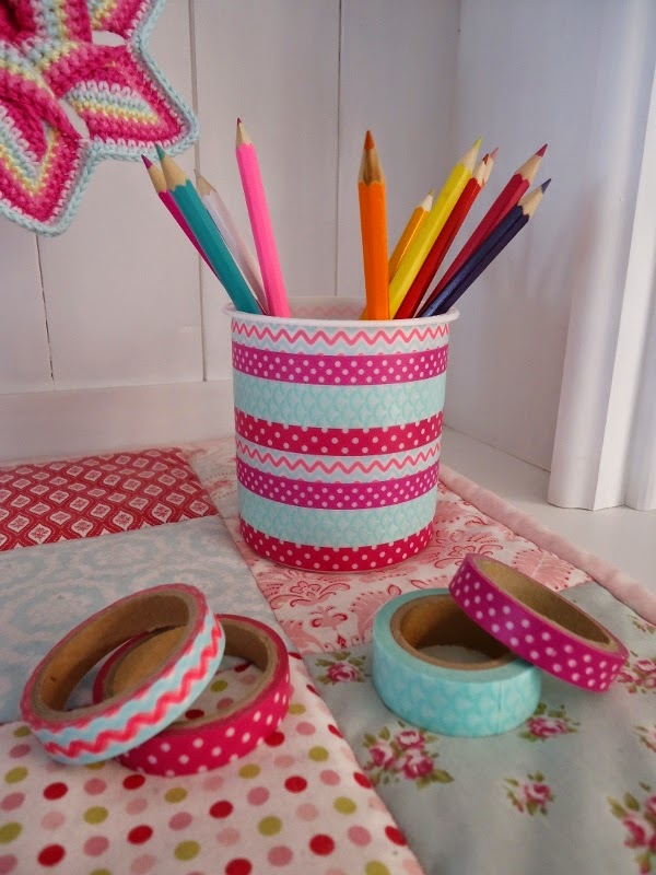 Washi Tape Pen Pot : Dinki Dots