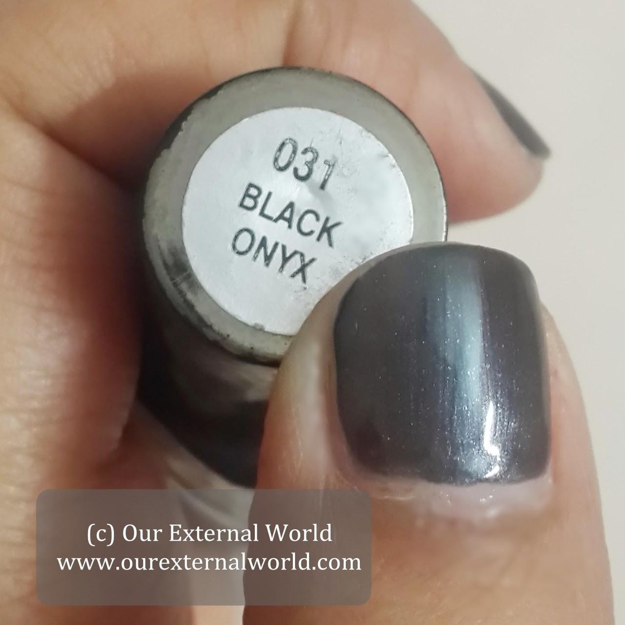 EN-VY Nail Polish - Black Onyx Swatches, review, price
