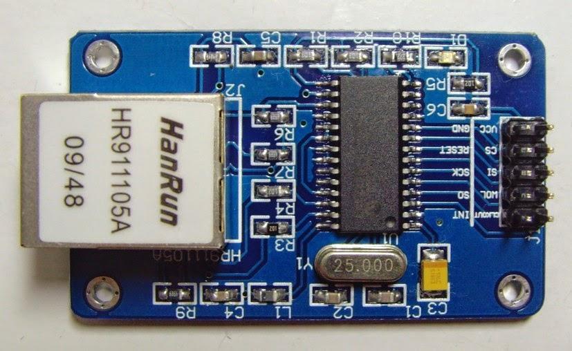 Ethernet enc j interfaced arduino embeddedrobotics
