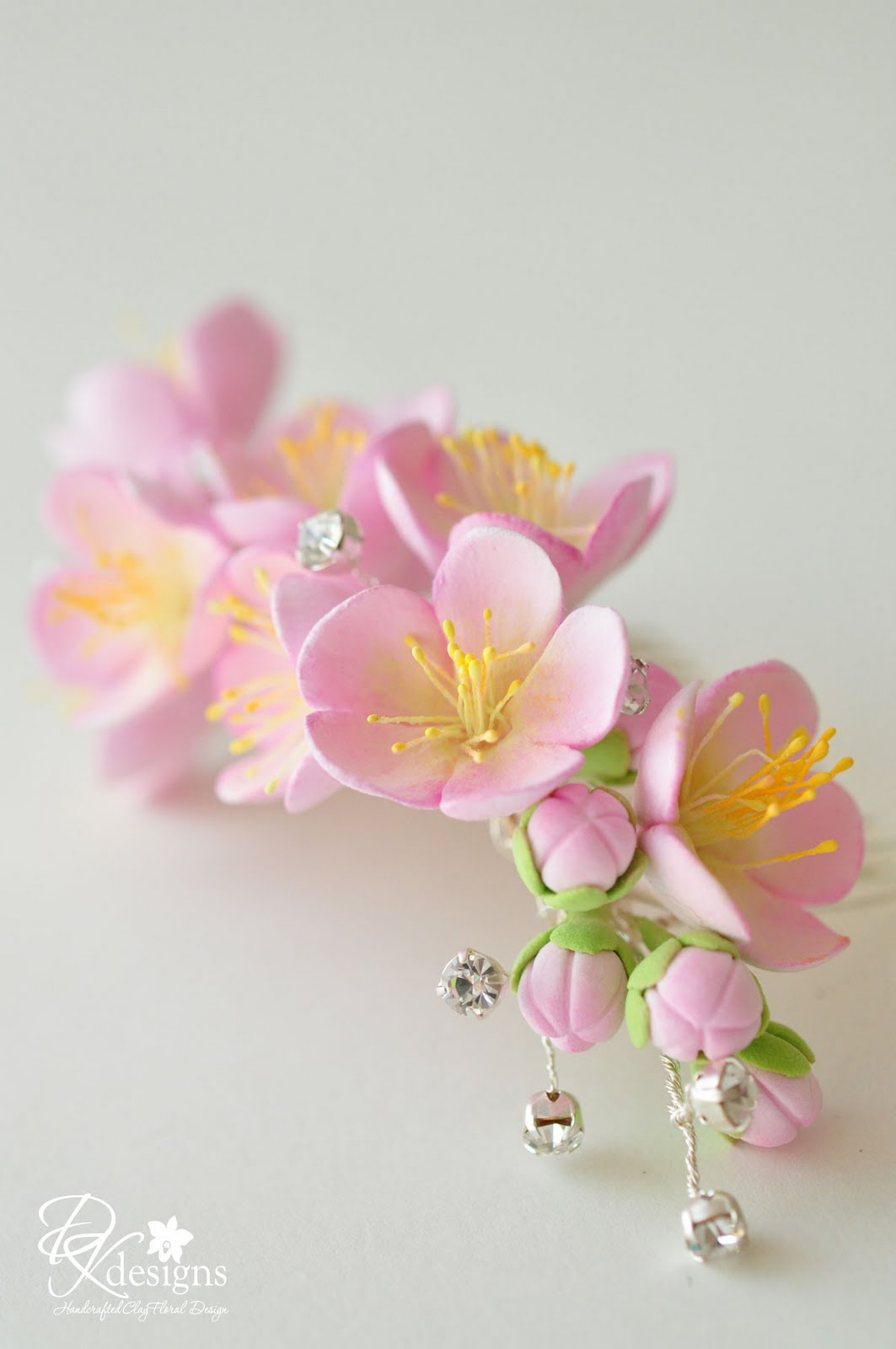 DK Designs Cherry Blossom Hair Comb
