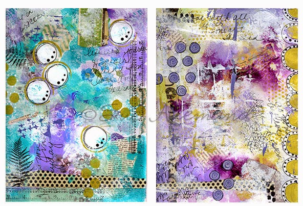 Mixed Media Paintings by Sue Allemand Art
