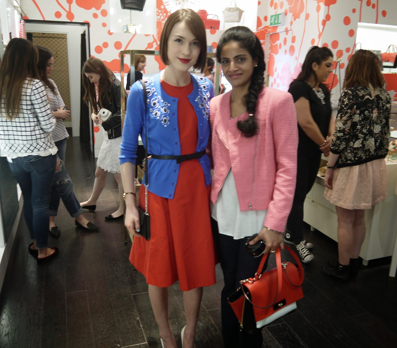 Ella and Me at Kate Spade Event at Westfield London